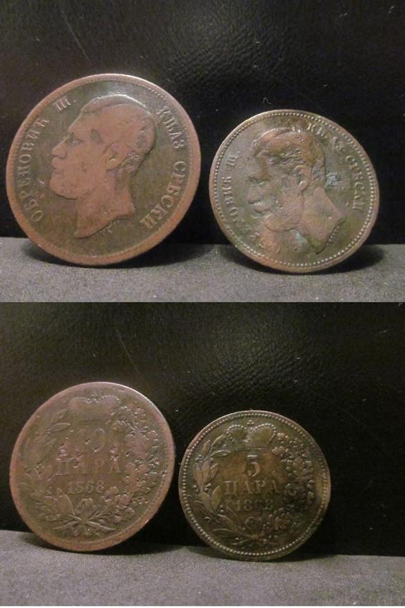 5 i 10 para - 1868.
