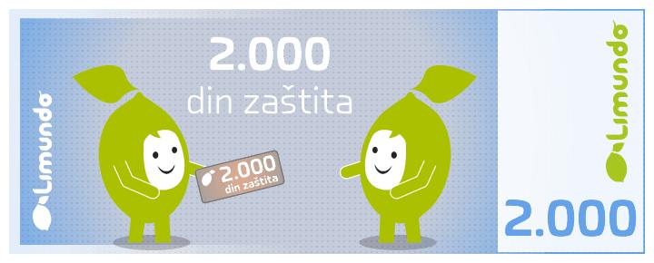 Limundo zaštita 2.000 din