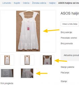 ASOS haljina od indijskog platna 34 SA ETIKETOM 48176545 Limundo.com