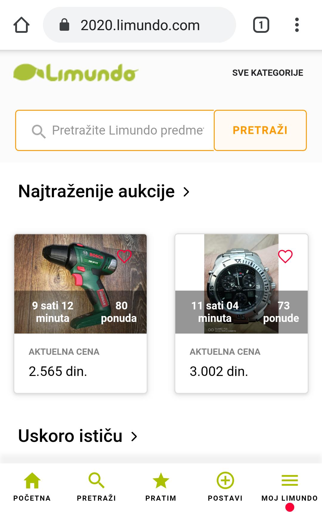 Mobilna verzija - Limundo 2020